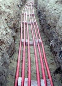 прокладка силовых кабелей. Волжские электрики.